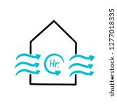 air changes per hour icon is... | Shutterstock .eps vector #1277018335
