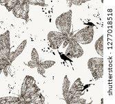 vector spring black and white ... | Shutterstock .eps vector #1277018518