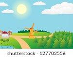 illustration of countryside... | Shutterstock . vector #127702556