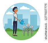 executive businesswoman cartoon   Shutterstock .eps vector #1277037775