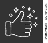 like chalk icon. thumbs up.... | Shutterstock .eps vector #1277049628