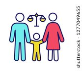 family court color icon. child... | Shutterstock .eps vector #1277049655