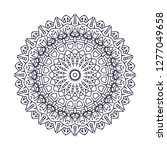 mandala. vintage decorative... | Shutterstock .eps vector #1277049658