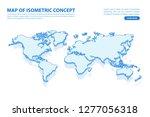 vector modern isometric concept ... | Shutterstock .eps vector #1277056318