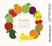 fruits cute banner background... | Shutterstock .eps vector #1277071915