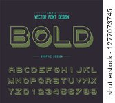 font and alphabet vector  line... | Shutterstock .eps vector #1277073745
