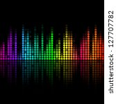 music volume abstract background | Shutterstock . vector #127707782