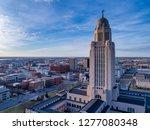 nebraska state capitol and... | Shutterstock . vector #1277080348