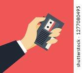 journalist concept. hand... | Shutterstock .eps vector #1277080495