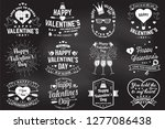 set of happy valentines day... | Shutterstock .eps vector #1277086438