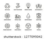 sustainability icon set | Shutterstock .eps vector #1277095042