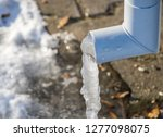 Roof Gutter With Ice