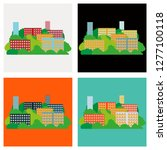 set of smart city with... | Shutterstock .eps vector #1277100118