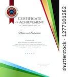 modern certificate template... | Shutterstock .eps vector #1277101282