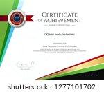 modern certificate template... | Shutterstock .eps vector #1277101702
