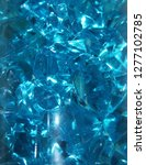 Blue Crystals Of Glass
