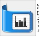 abstract icon of a chart ...