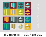 isolated city buildings icon... | Shutterstock .eps vector #1277105992