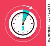 5 five minutes vector clock... | Shutterstock .eps vector #1277113555