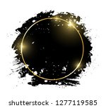 gold shiny glowing round frame... | Shutterstock .eps vector #1277119585