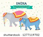 elephant festival illustration... | Shutterstock .eps vector #1277119702