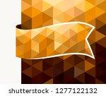 golden triangular tag  waving... | Shutterstock .eps vector #1277122132