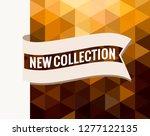 golden triangular tag  waving... | Shutterstock .eps vector #1277122135