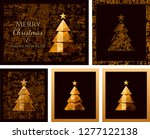 happy new year cards with... | Shutterstock .eps vector #1277122138