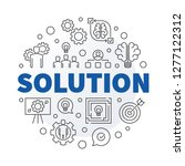 vector solution round concept... | Shutterstock .eps vector #1277122312
