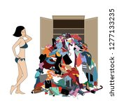 nothing to wear concept  young... | Shutterstock .eps vector #1277133235