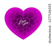 heart in the style of paper cut ... | Shutterstock .eps vector #1277136325