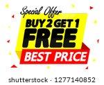 buy 2 get 1 free  sale banner... | Shutterstock .eps vector #1277140852