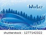 vector winter background with... | Shutterstock .eps vector #1277142322