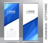 roll up business brochure flyer ... | Shutterstock .eps vector #1277154082