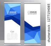 roll up business brochure flyer ... | Shutterstock .eps vector #1277154085