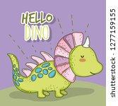 cute styracosaurus wildlife...   Shutterstock .eps vector #1277159155