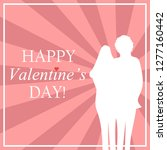 valentine's day card with two... | Shutterstock .eps vector #1277160442