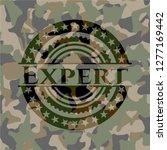 expert camo emblem | Shutterstock .eps vector #1277169442