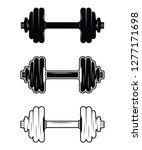 barbell dumbbell gym fitness...   Shutterstock .eps vector #1277171698