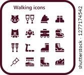 walking icon set. 16 filled... | Shutterstock .eps vector #1277174542