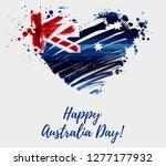 happy australia day. holiday... | Shutterstock .eps vector #1277177932