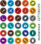 white solid icon set  sponge... | Shutterstock .eps vector #1277182192