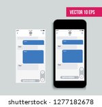 mobile ui kit messenger. chat... | Shutterstock .eps vector #1277182678