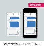 mobile ui kit messenger. chat...