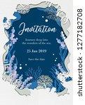 invitation card template design ... | Shutterstock .eps vector #1277182708