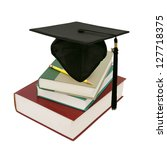 a graduating degree in school... | Shutterstock . vector #127718375