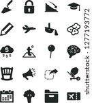 solid black vector icon set  ... | Shutterstock .eps vector #1277193772