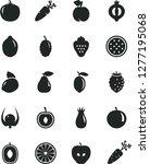 solid black vector icon set  ... | Shutterstock .eps vector #1277195068