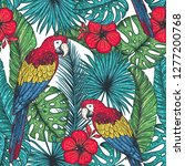 tropical seamless pattern.... | Shutterstock .eps vector #1277200768