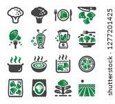broccoli icon set vector and... | Shutterstock .eps vector #1277201425